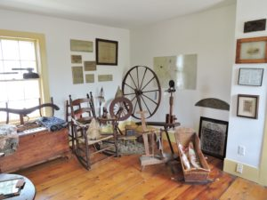 Spinning wheels in the18th Century Room